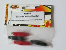 Croc Clips, Mini - Red/Black 2 pairs Schumacher Part No U2853
