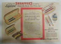 "Sheaffer's  Pen Ad:  Sheaffer's ""Lifetime"" Pen ! from 1940 Size: 11 x 15 inches"