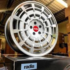 "19"" RADI8 R8SD11 ALLOY WHEELS FITS SKODA SEAT LEON EXEO ALTEA SILVER MACHINED"