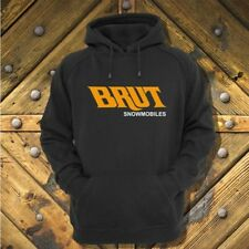 Brut Snowmobile style hoodie with vintage style logo