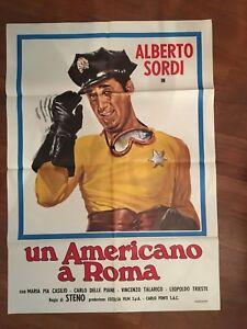 MANIFESTO 2F,Q,UN AMERICANO A ROMA,ALBERTO SORDI,STENO CASILIO POLICE