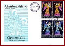 Christmas Islands -Australien 1972, Noël Engel, Peace, Frieden, FDC, Mi 55-58