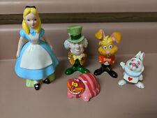 Vintage Walt Disney Productions Alice in Wonderland 5 Figure Set Japan