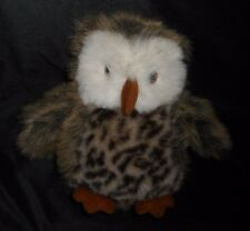 """10"""" PRINCESS SOFT TOYS 2000 BROWN & WHITE SPOTTED OWL STUFFED ANIMAL PLUSH TOY"""