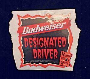 1996 Budweiser beer Halloween Designated Driver sticker
