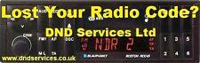 Blaupunkt Radio Code Decode Unlock by Serial Number - Boston RCC 45 CC 20 22 C30
