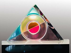 Original Signed Colored Lucite Acrylic Art Sculpture Listed Artist Shlomi Haziza