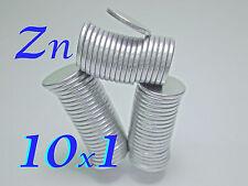 50 CALAMITE 10x1 Copertura ZINCO MAGNETI NEODIMIO POTENTI magnete Fimo.