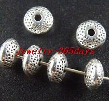 80pcs Tibetan Silver Nice Bicone Spacer Beads 8.5x4.5mm 10433