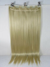 "New One 24"" Synthetic Fiber 130g 6Clips On Cap Wig Pure Straight Blonde #613"