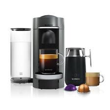 Nespresso Vertuo Plus Deluxe Titan Flat Top and Barista Coffee Machine