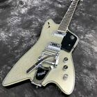 Custom Billy bo model sparkling silver electric guitar G solid wood Chinese New for sale