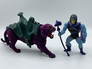 Masters of the Universe Vintage - MOTU - Battle Armor Skeletor on Panthor!