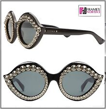 c28e631c75 Gucci Crystal Lips Stud 3867 0045 Cat Eye Black Gold Crystal Sunglasses  Gg3867s
