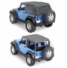 Smittybilt Bowless Combo Top 07-17 Jeep Wrangler JK 2 Door Black W/Tinted Window