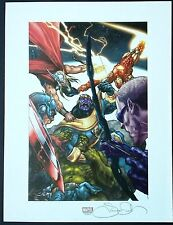 SIMONE BIANCHI - THANOS VS AVENGERS SDCC  FINE ART PRINT - SIGNED LTD EDITION