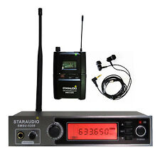 STARAUDIO Pro UHF Stereo Monitor System Audio In-ear Headset Wireless Stage