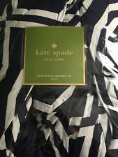 $120 Kate Spade Bow Tile 2 Piece Comforter Set White/Navy BlueTwin/Twin Xl