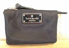 NWT Kate Spade MINI NATASHA Wilson Road Zip Mini Nylon Coin Pouch Wallet Black