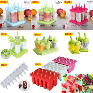 Large Silicone Frozen Ice Cream Mold Juice Popsicle Maker Ice Lolly Pop Mould