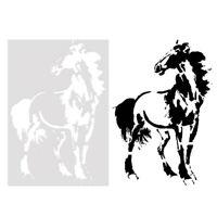 Pferdeform kuchenform kinder malerei sammelalbum vorlage form diy dekoration