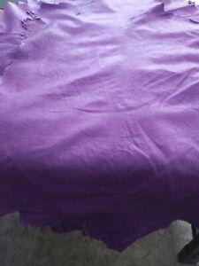 Italian Lambskin Hide leather skin Barolo Lavender. 1.5 oz. 0.6 mm
