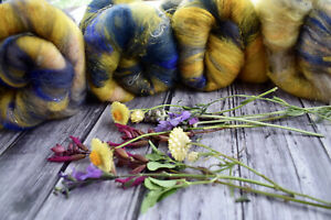 """Hand Carded   Kitchen Sink Batt  X 245   Grams """"Colour Therapy"""""""