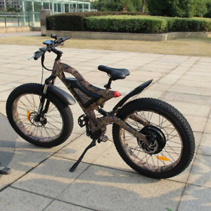 """1500W 48V 15Ah Battery 26*4"""" Fat Tire Mountain Electric Bicycle With LCD Display"""