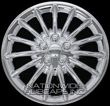"4 15"" CHROME Hub Caps Full Wheel Covers Rim Cap Lug Cover Hubs for Steel Wheels"