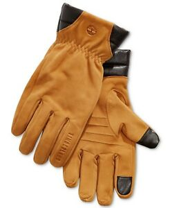 Timberland Men's Winter Gloves Wheat Yellow Size Small S Nubuck Leather $98 #342