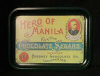 Hershey Chocolate Co. ~ Hero Of Manila Flor Fina Chocolate Segars ~ Metal Tray