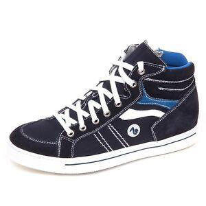 E2146 sneaker bimbo blu NERO GIARDINI JUNIOR scarpe shoe kid boy