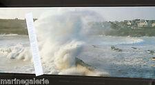 Tempête bretonne vague Bretagne déco mer poster photo couleurs panoramique 67cm