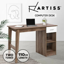 Artiss Office Computer Desk Student Study Table Workstation Shelf Scandinavian