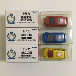 Tomica Assembly Factory Hello Kitty Mercedes Benz A Class 3 Body Red Blue Yellow