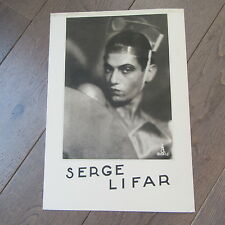 GRAND PORTRAIT DE SERGE LIFAR PAR ANGELO PHOTO 1930 DANSE OPERA