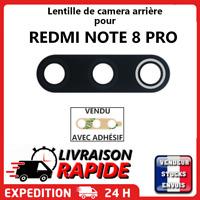 Vitre arrière caméra XIAOMI REDMI NOTE 8 PRO Lentille appareil photo Lens verre