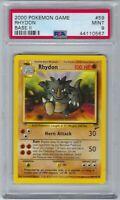 44110567 Mint PSA 9 RHYDON 59/130 Base Set 2 Pokemon Card 2000