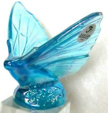 Fenton Butterfly Misty Blue Carnival Iridescent Glass Stickers