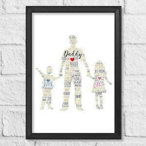 Personalised Fathers Day gift Child Print Birthday Gift Dad Son Daughter Husband