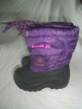 Girls Kamik Purple Black Removable Liner Winter Snow Rain Mud Muck Boots 8