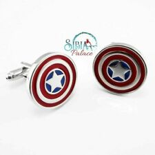 Captain America Sheild Super Hero Novelty Cufflinks Fashion Cuff link Men Gift