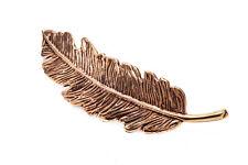 Pero Feder Fibel Brosche Bronze Gothic Schmuck - NEU