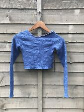 FOREVER 21 BLUE LACE CROP TOP. STRETCH. SIZE L UK 12-14. BNWT