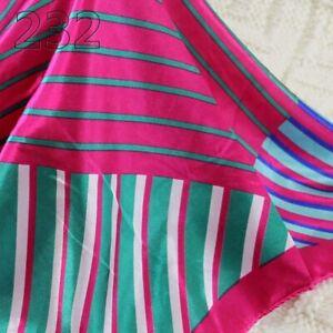 Vintage Elegant Designs Silk Satin Feel Ladies Small Square Head / Neck Scarf 32