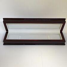 New SARTEGO Burgundy Wood Watch Box Jewelry Storage Case