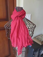 Women's GAP Crinkle Fabric Scarf  Solid Rose Red  NWOT