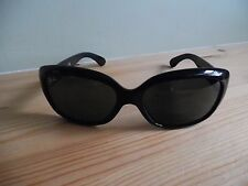 Ladies Ray Ban Jackie OHH Black Oval Sunglasses RB 4101 601 3N Made in Italy