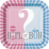 GENDER REVEAL Ultimate Party Pack,Tableware Decorations Boy or Girl Baby Shower