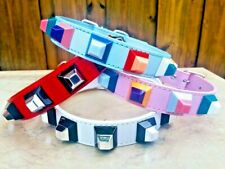 "Dog Collar PU Leather, high quality Unique design, Adjustable from 14""-17"""